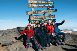 Climd Kilimanjaro Uhuru Peak, the top of Kilimanjaro
