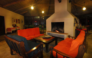 Ngorongoro Rhino Lodge fire place