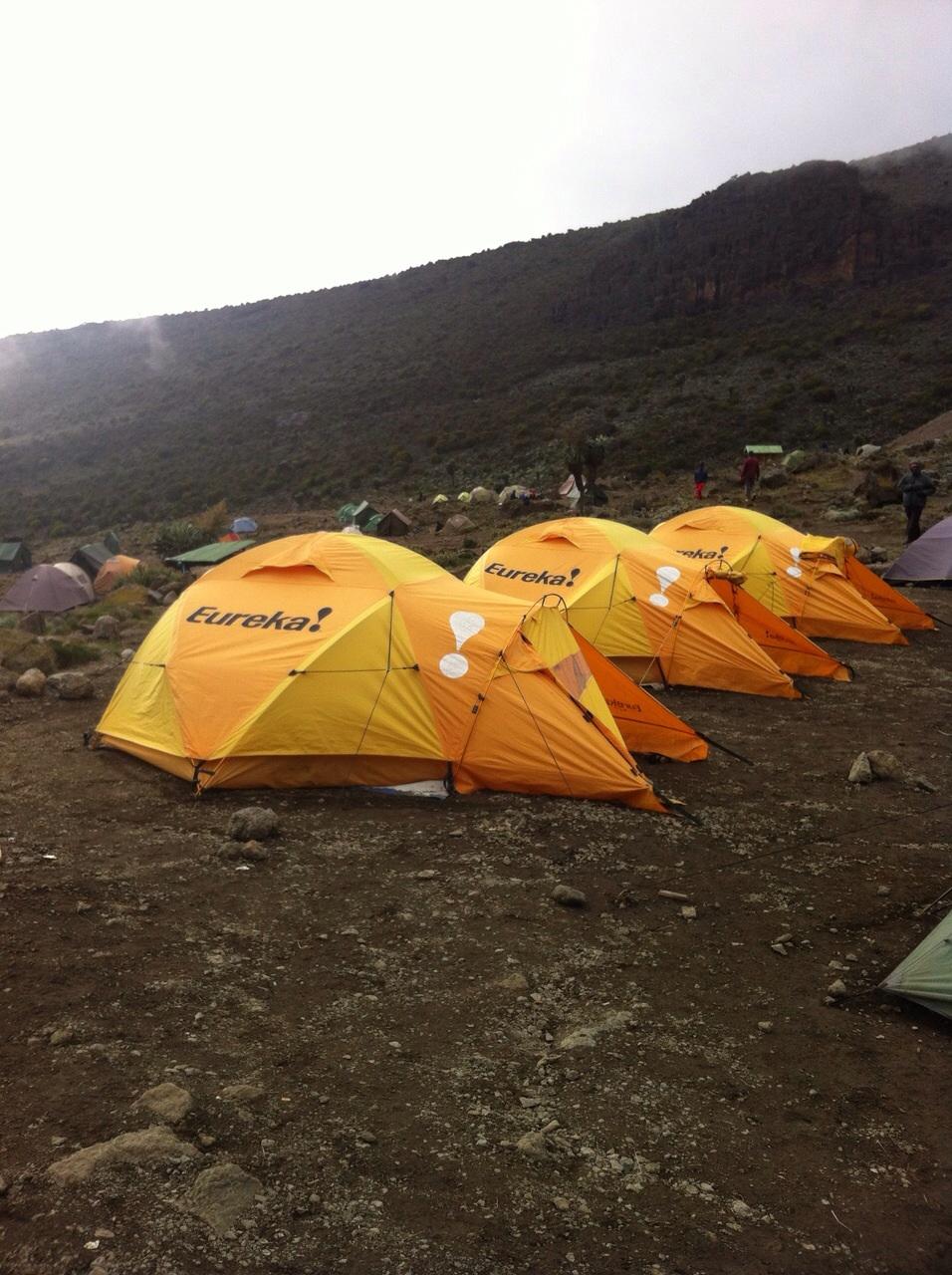 Climb Kilimanjaro dome tents