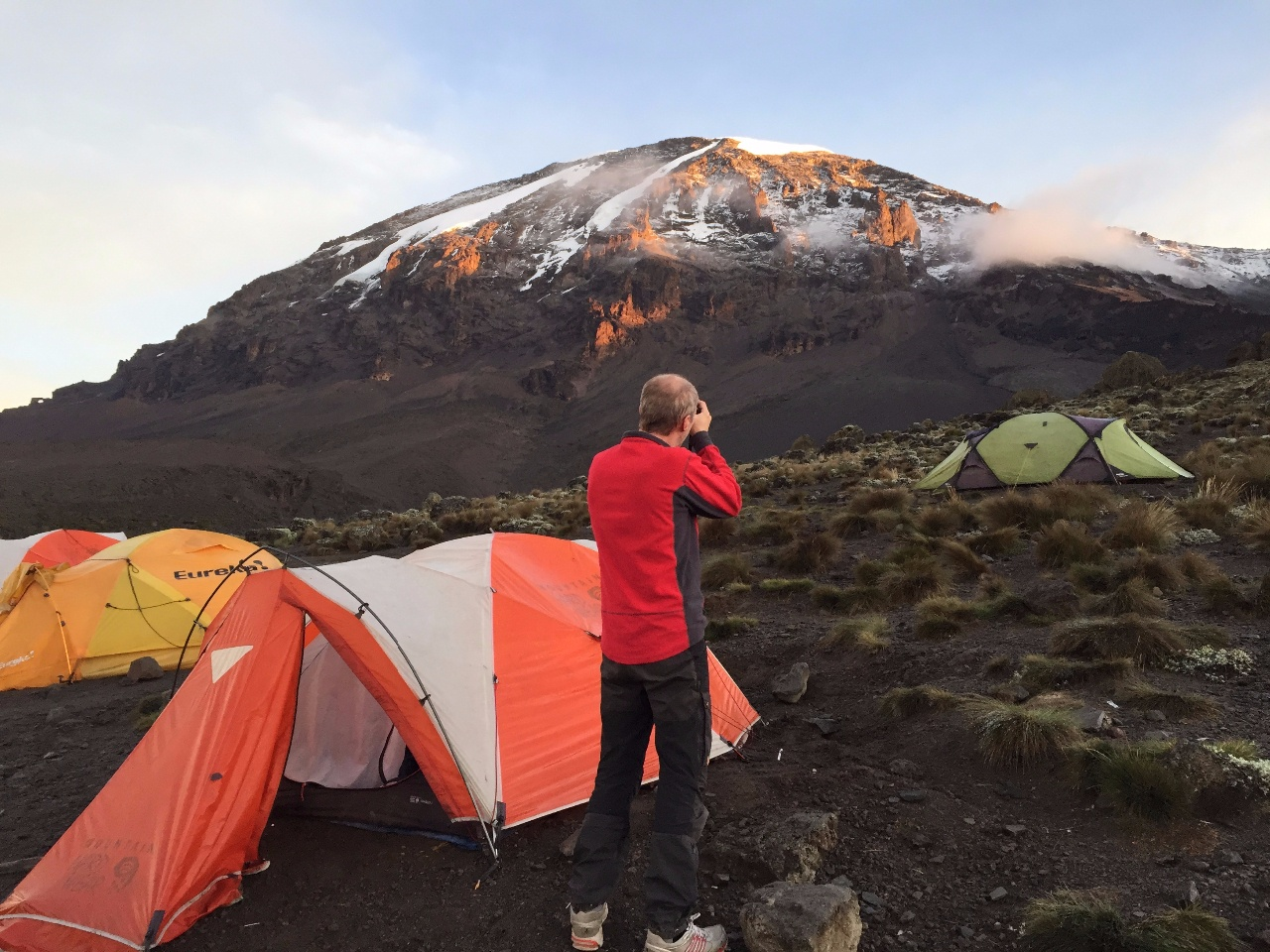 Kilimanjaro Whiskey route camping