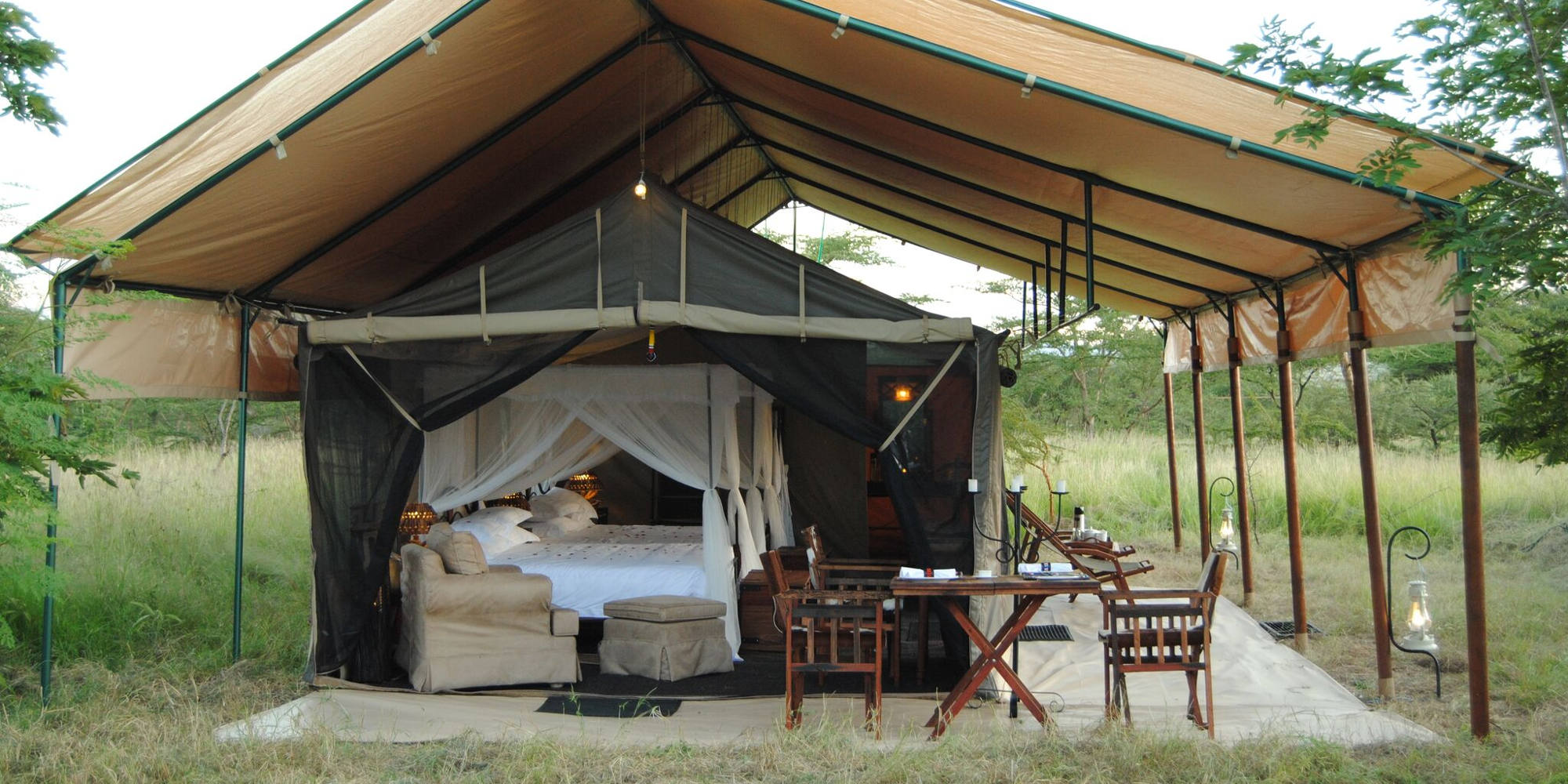 Inside tent Tanzania Busg Campo