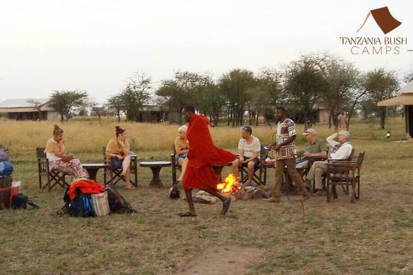 Camp fire at Tanzania Bush Camp