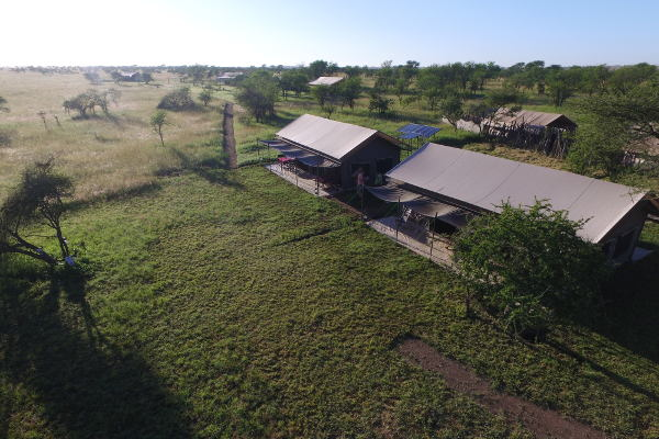 Tanzania Bush Camp from above