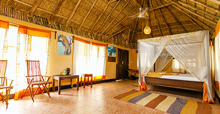 Africa Safari Camp Selous Tanzania inside tent