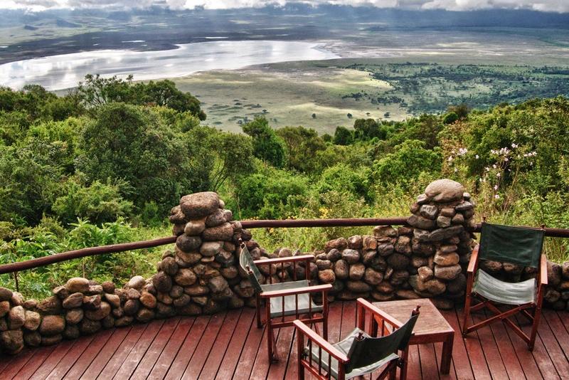 View from a balcony at Ngorongoro Serena Lodge