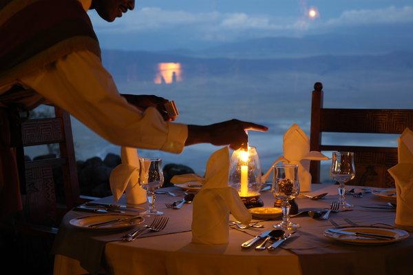 Dining at Ngorongoro Serena Lodge
