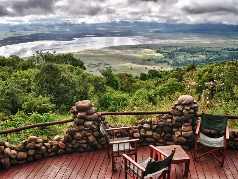 Ngorongoro Serena Lodge, balcony