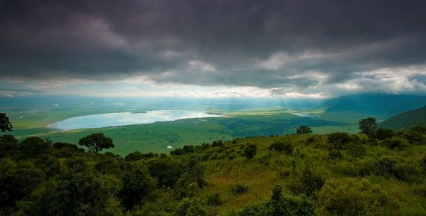 View of the crater from Ngorongoro Serena Lodge