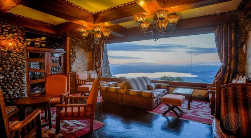 Lounge in Ngorongoro Serena Lodge