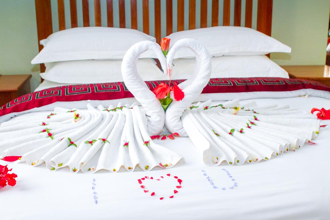 Summit Safari Lodge bed is made