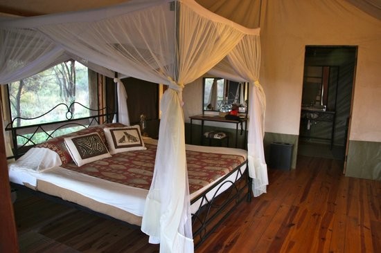 To see what the tents look like at Lake Burunge Tented Lodge