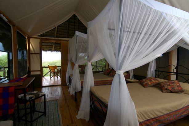 To see what the beds look like at Lake Burunge tented lodge