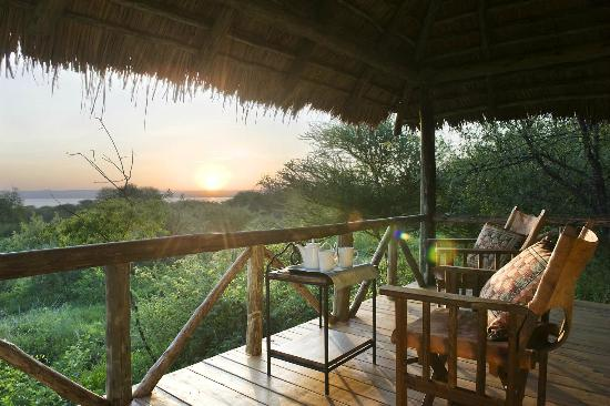 See the view from Lake Burunge Tented Lodge