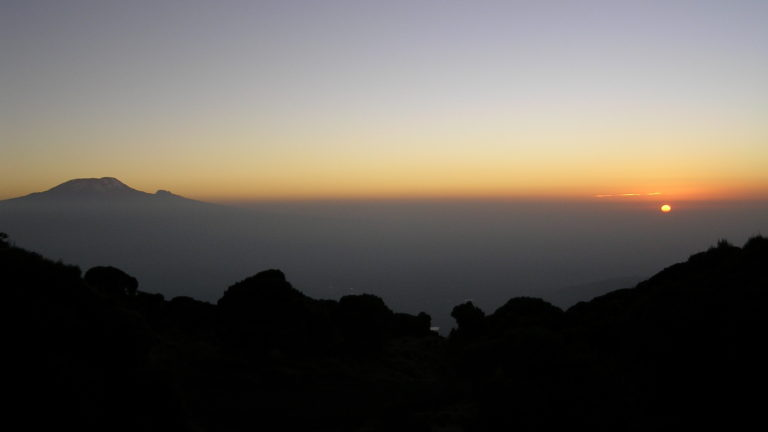 Kilimanjaro from Mount Meru