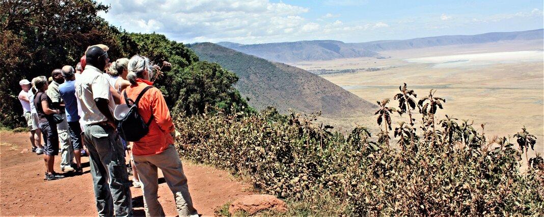 Ngorongorokratern utsikt